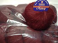 Пряжа Антарес Италия (30% кид мохер) бордо