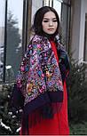 Прекрасное далёко 1678-15, павлопосадский платок шерстяной с шелковой бахромой, фото 4