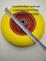 Колесо полиуретановое 4*6(с осью  диаметром 20 мм )