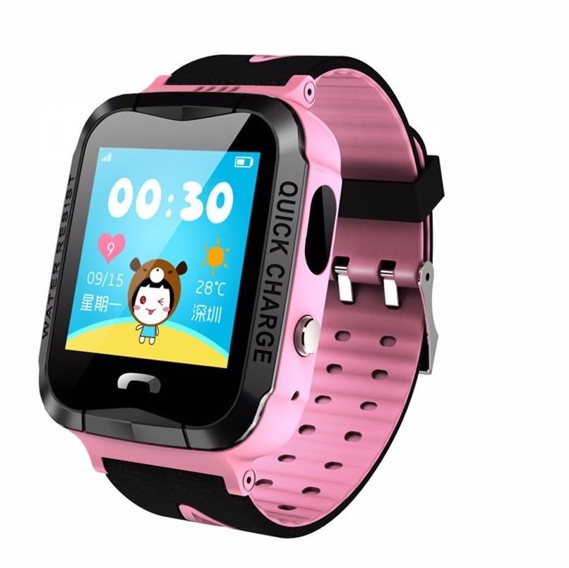 Детские Смарт часы с GPS V5F Pink (Smart Watch) Умные часы