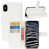 Чехол-книжка Litchie Wallet для Apple iPhone XS Max Белый