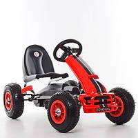 Детская педальная машина веломобиль  КАРТ M 4040-3 красный