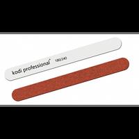 Пилка для нігтів Пряма White/Brown 180/240 Kodi Professional