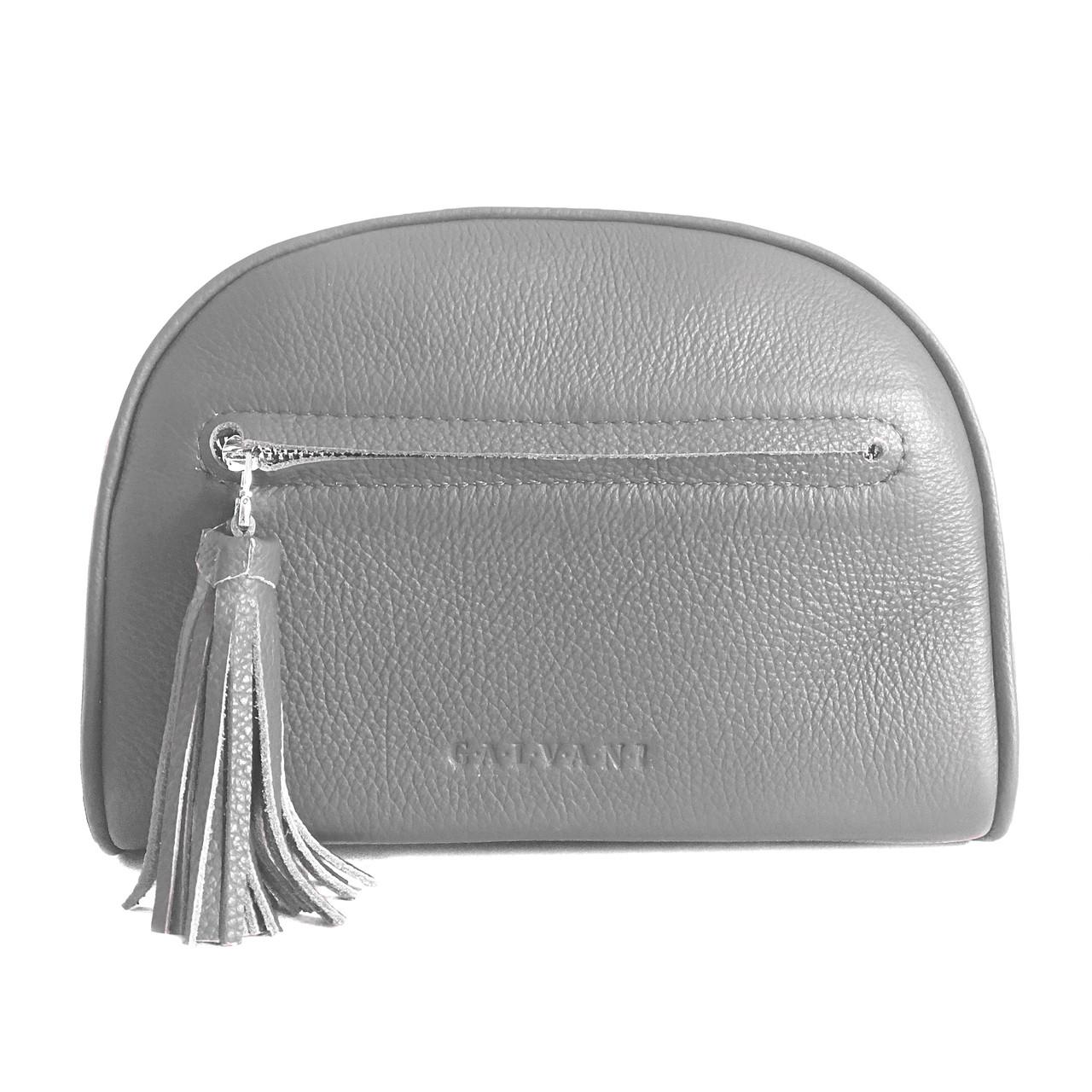 Женская кожаная сумка серый