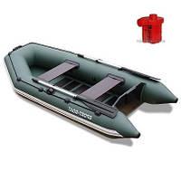 Човен надувний DM 290LS + Насос електричний Турбинка 12V АС 401