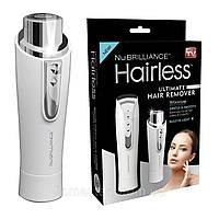 Женская компактная электробритва депилятор триммер для лица NuBrilliance Hairless, фото 1
