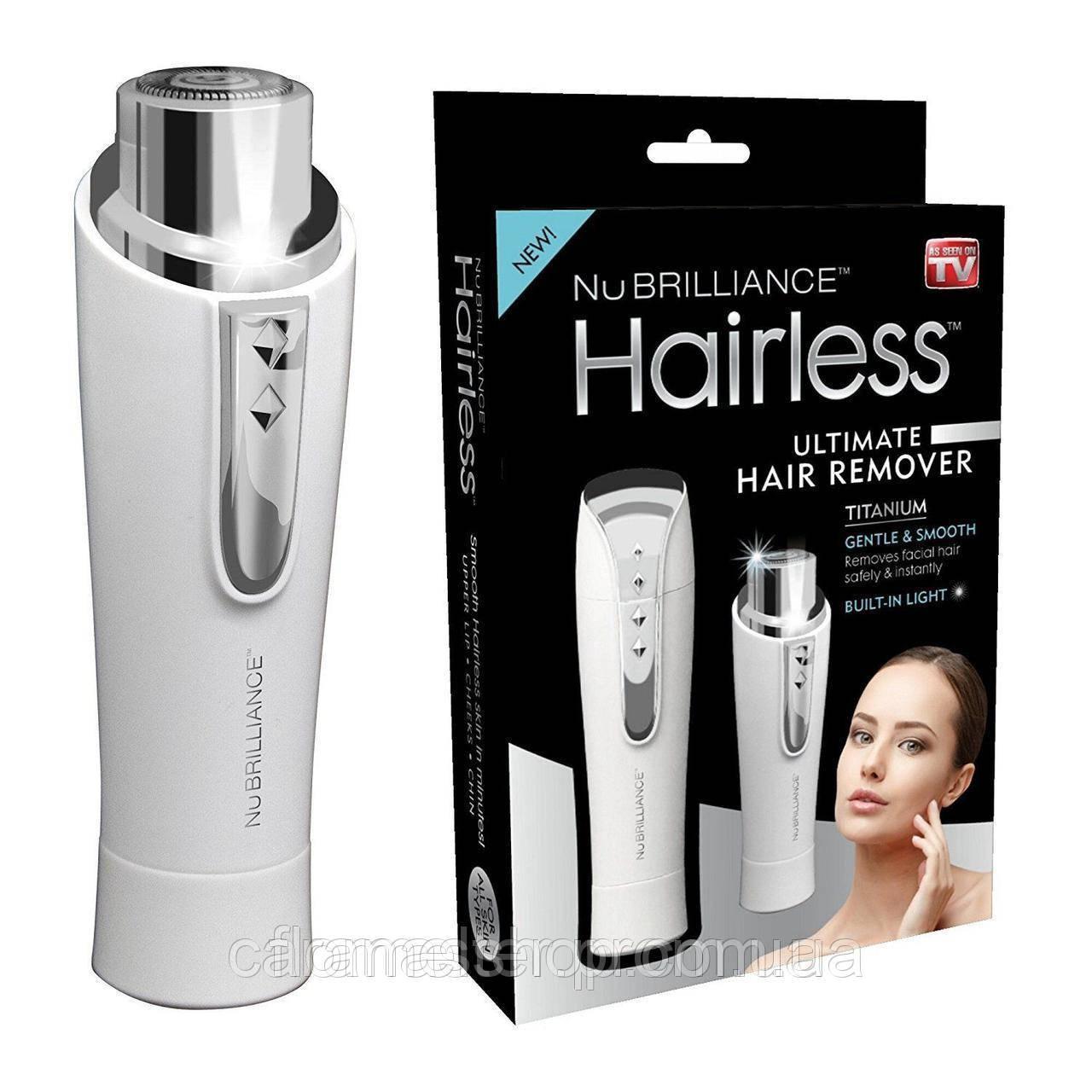 Женская компактная электробритва депилятор триммер для лица NuBrilliance Hairless