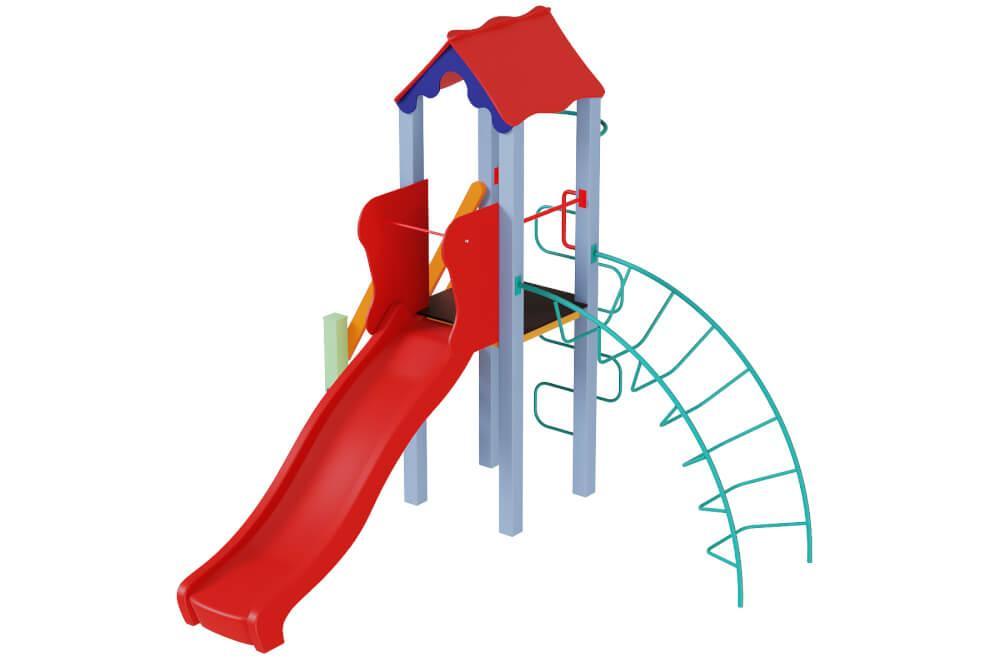 Дитячий комплекс Півник з пластиковою гіркою