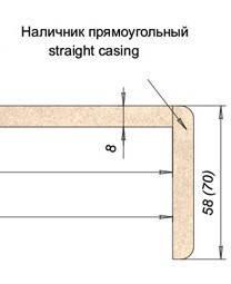Лиштва МДФ 58мм прямий Сосна Карелія, фото 2