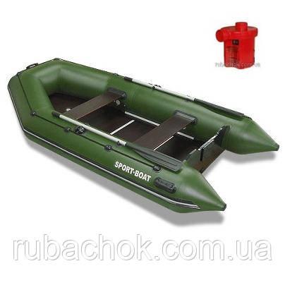 Лодка надувная Sport-Boat N 310LK + Насос электрический Турбинка 12V АС 401