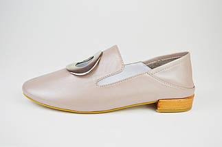 Мюли туфли цвета кофе с молоком Evromoda 1042, фото 2