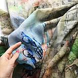 Палантин шерстяной 10168-1, павлопосадский шарф-палантин шерстяной (разреженная шерсть) с осыпкой, фото 3