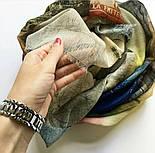 Палантин шерстяной 10168-1, павлопосадский шарф-палантин шерстяной (разреженная шерсть) с осыпкой, фото 4