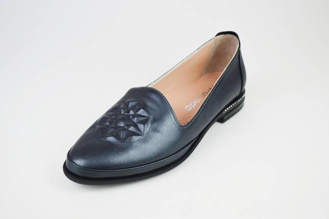 Туфли на плоской подошве серые Evromoda 176, фото 2