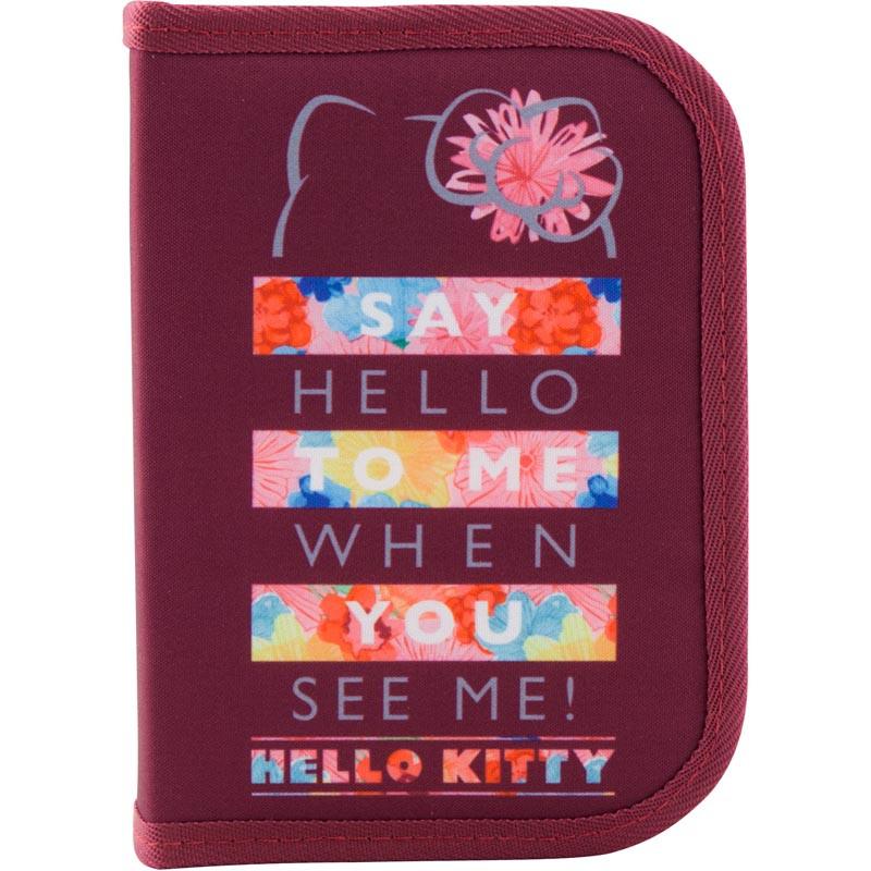 Пенал без наполнения Kite Education Hello Kitty HK19-622, 1 отделение, 2 отворота