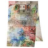 Палантин шерстяной 10168-1, павлопосадский шарф-палантин шерстяной (разреженная шерсть) с осыпкой, фото 6