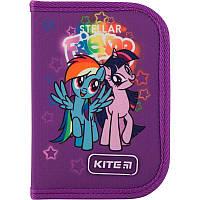 Пенал без наполнения Kite Education My Little Pony 1 отделение 2 отворота Фиолетовый (LP19-622-1)
