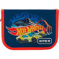 Пенал без наполнения Kite Education Hot Wheels 1 отделение 2 отворота Синий (HW19-622-1)