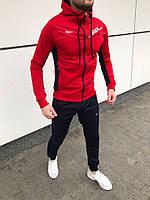 Красный спортивный мужской костюм двойка