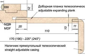 Доборная доска телескопическая ПВХ 70мм Ольха Европейская, фото 2
