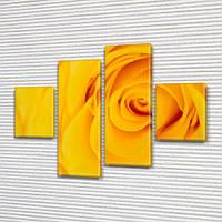 Бутон Желтой Розы, модульная картина (Цветы) на ПВХ ткани, 85x110 см, (35x25-2/75х25-2), фото 1