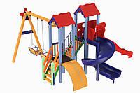 Детский комплекс Авалон с пластиковой горкой H-1,5 м