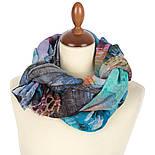 Палантин шерстяной 10168-13, павлопосадский шарф-палантин шерстяной (разреженная шерсть) с осыпкой, фото 2