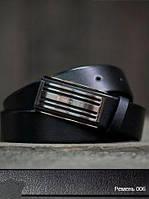 Ремень кожаный 006 Черный