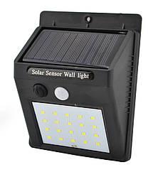 Светильник UKC с датчиком движения и солнечной панелью 20 smd настенный уличный черный
