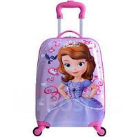 Детский чемодан на 4 колесиках Принцесса София 29 литра