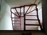 П-Образный каркас лестницы с разворотом 180 гр и забежными ступенями, фото 4
