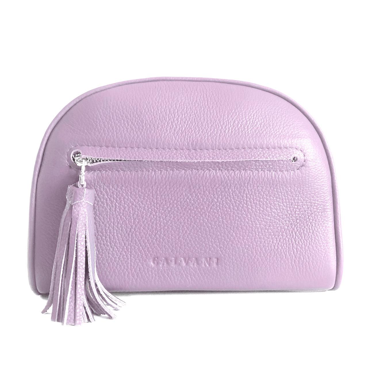 Жіноча шкіряна сумка рожева