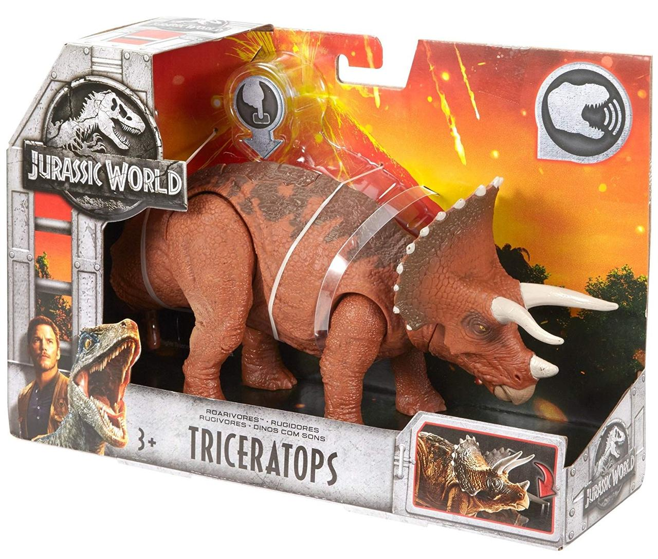 Фигурка Динозавр Jurassic World Roarivores Triceratops Mattel