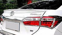 (ABS пластик) Лип спойлер Toyota Corolla (2013+), Тойота Королла