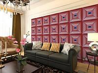 Декоративная мягкая 3д панель, decor1