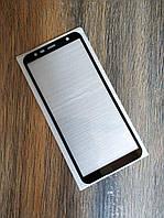 Защитное стекло Full Glue для Samsung J6 Plus Черное 5D