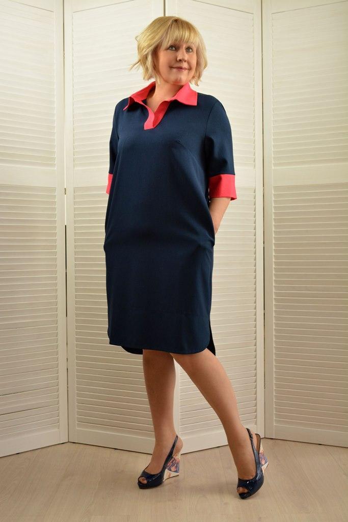 Платье-рубашка - Модель 1642-3
