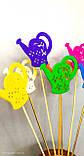 Лейки декор на палочке. 7 цветов. Декор на палочке из пластика. Пасхальный декор, фото 4