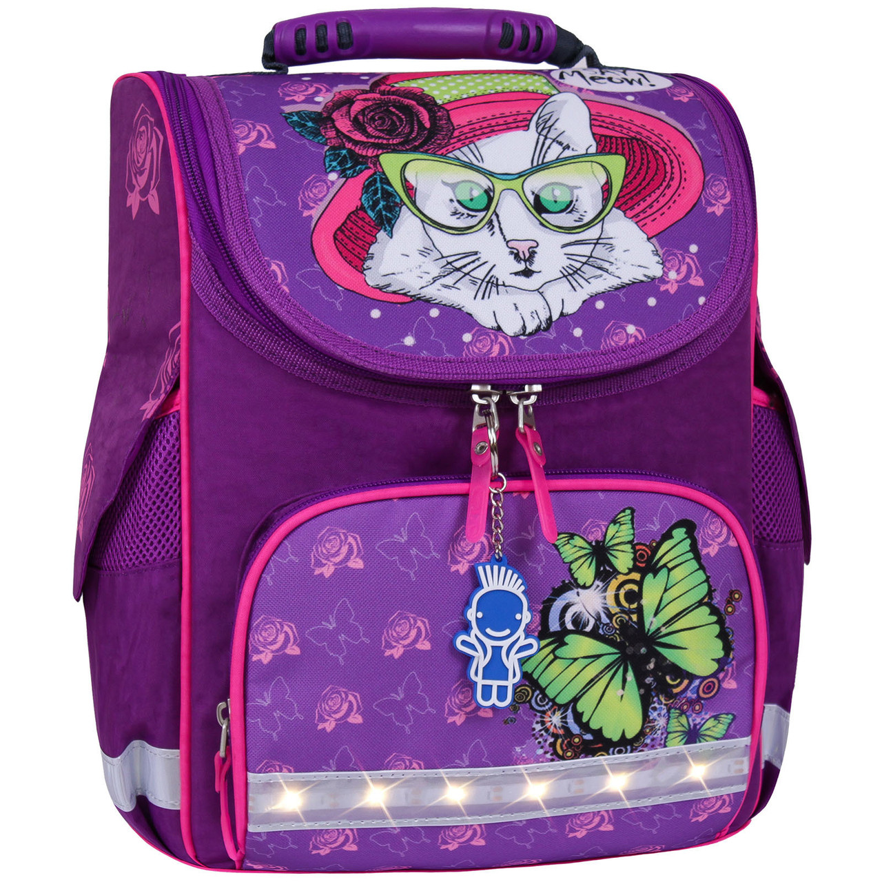 Украина Рюкзак школьный каркасный с фонариками Bagland Успех 12 л. фиолетовый 168к (00551703)