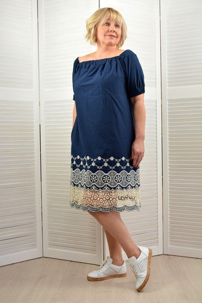 Платье-туника на бретелях - Модель 1668-2