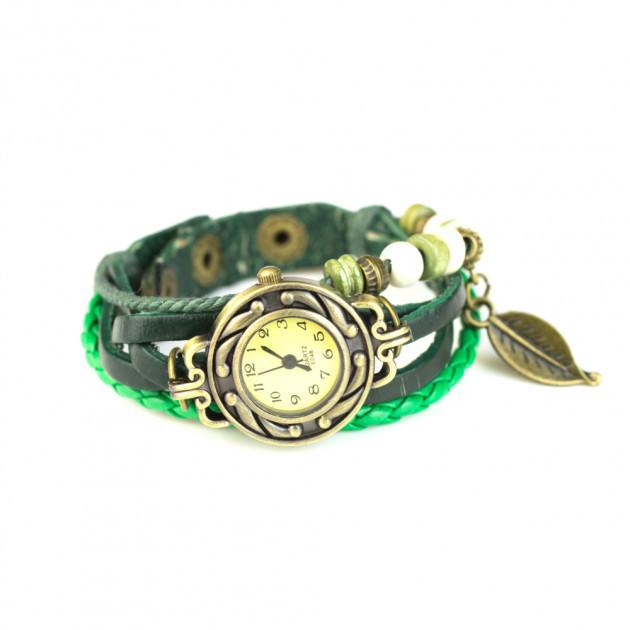 Женские часы браслет Листик