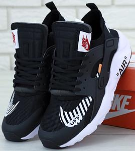 Мужские Кроссовки Nike Air Huarache Off White Black White, найк хуарачи