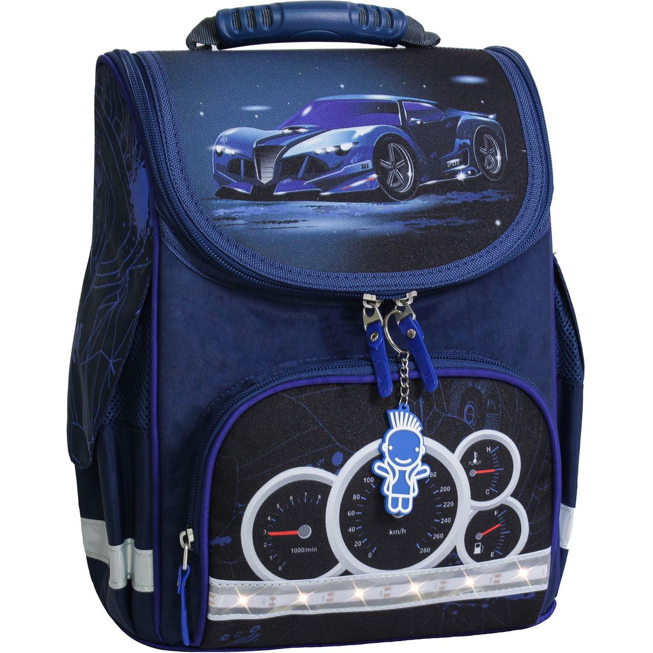 Украина Рюкзак школьный каркасный с фонариками Bagland Успех 12 л. синий 248к (00551703)