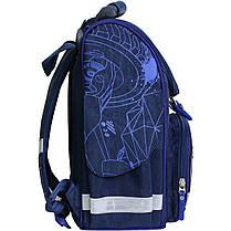 Украина Рюкзак школьный каркасный с фонариками Bagland Успех 12 л. синий 248к (00551703), фото 3