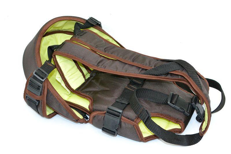 Рюкзак-кенгуру №8 (1) лёжа,цвет коричневый.Предназначен для детей с двухмесячного возраста, (Украина)