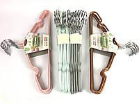 Вешалка тонкая с покритием цветная 10 шт, фото 1