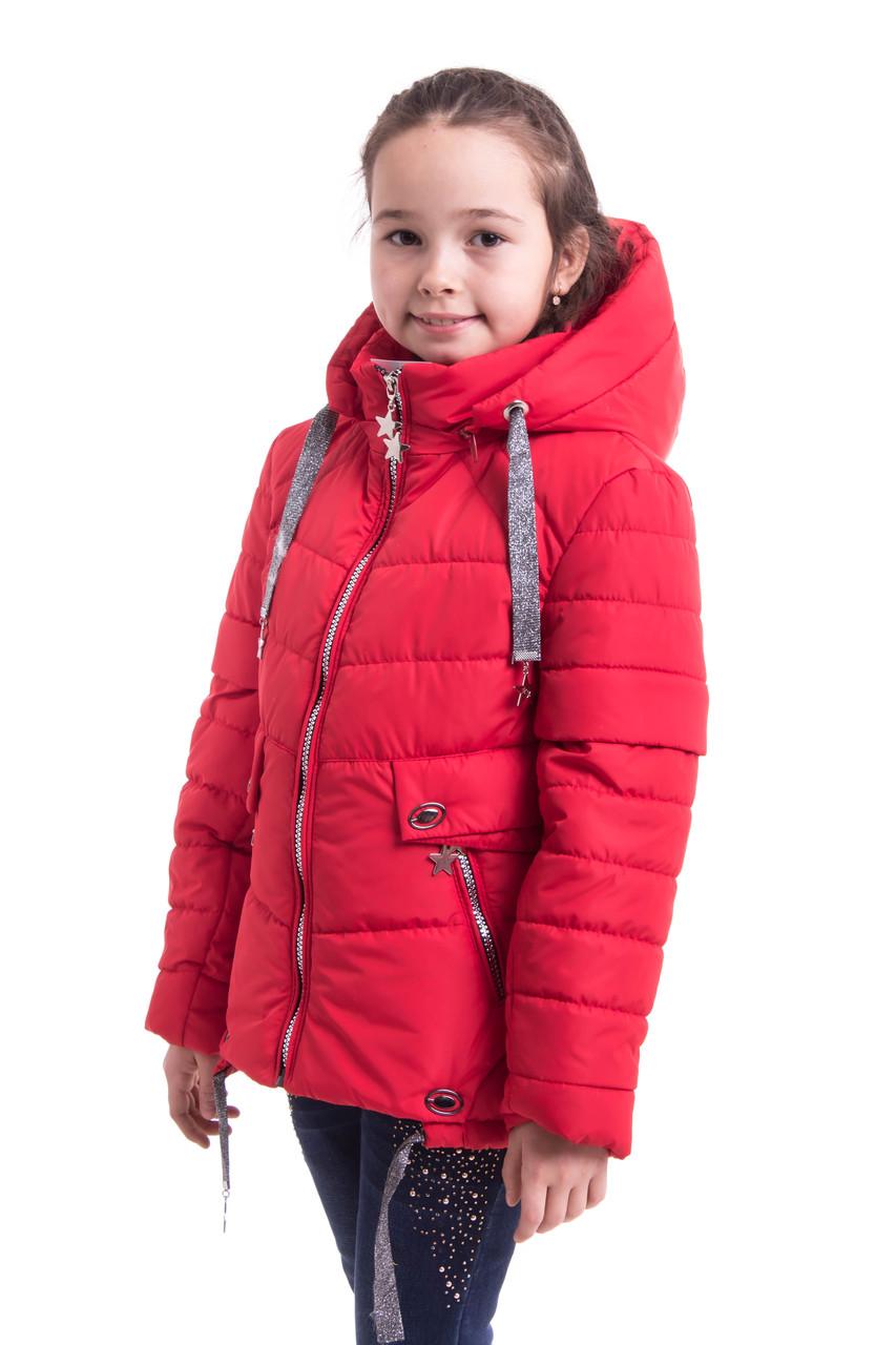 Демисезонная куртка для девочек от производителя  34-42 красный