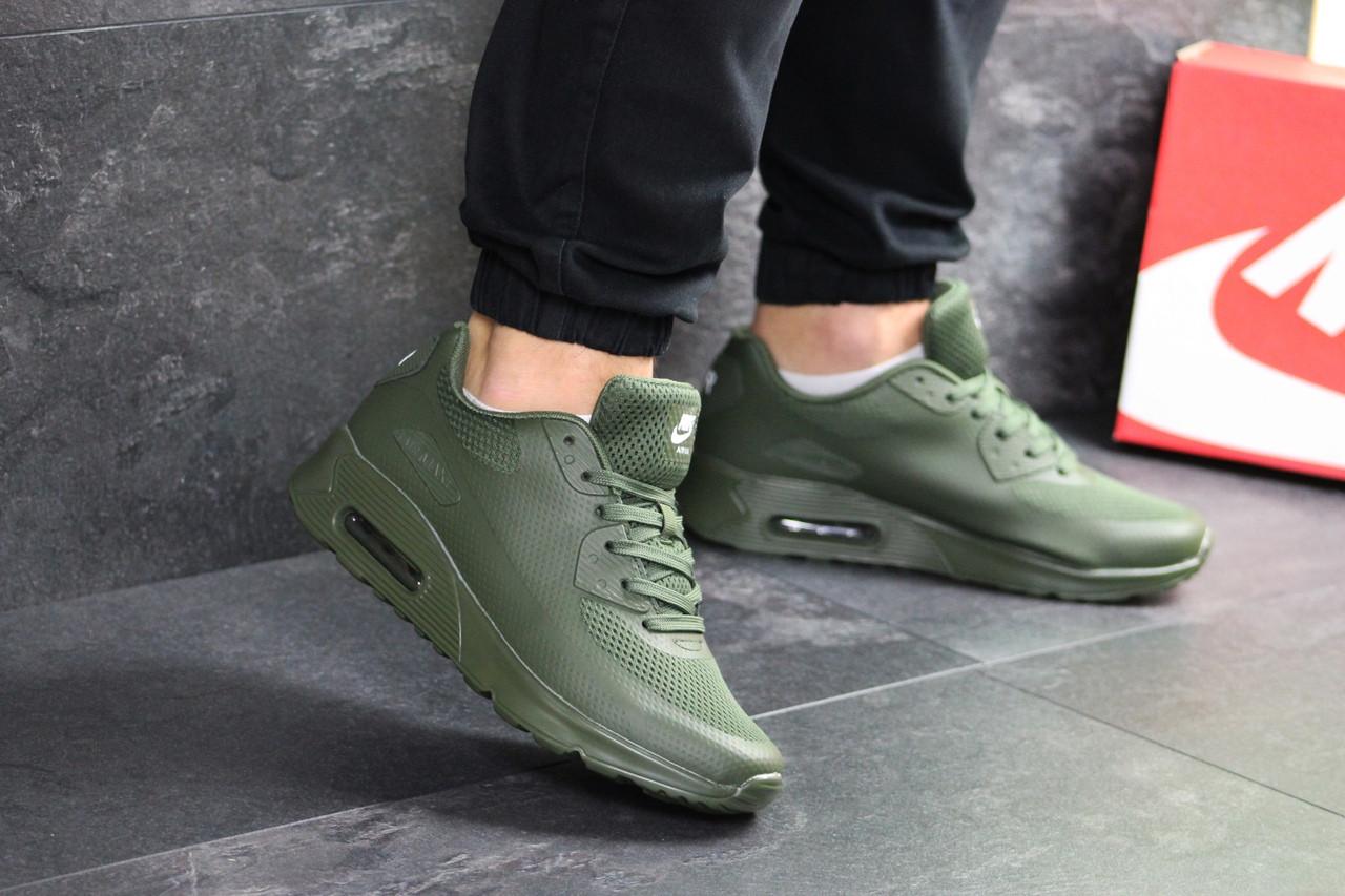 Кроссовки найк аир макс 90 темно-зеленые демисезонные спортивные (реплика) Nike Air Max 90 Dark Green