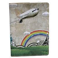 Блокнот Rainbow A5 04 Рисованный самолет (эко-кожа)