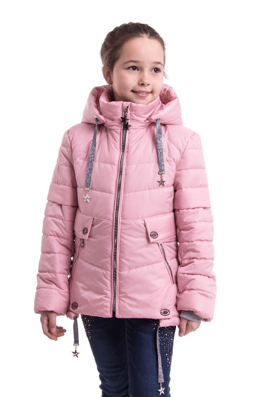 Куртка демисезонная на девочку от производителя  34-42 пудра